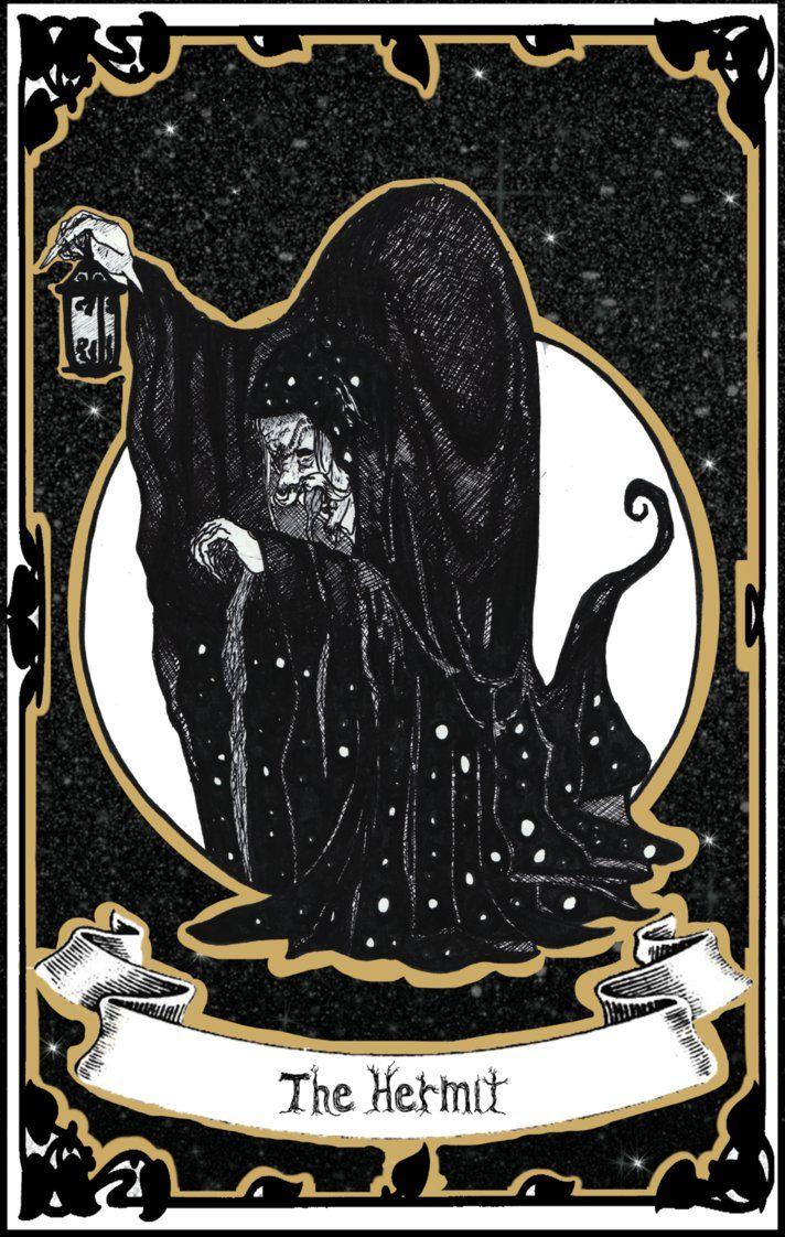 The Hermit Tarot Card Meaning In Readings Isolation: IX - The Hermit By CatInBread On DeviantArt