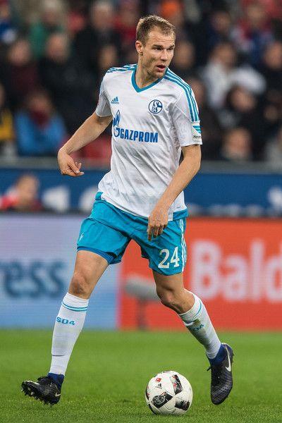 Holger Badstuber of Schalke in action in the defense during the Bundesliga match between Bayer 04 Leverkusen and FC Schalke 04 at BayArena on April 28, 2017 in Leverkusen, Germany.