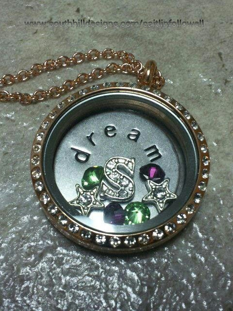 Locket Idea for Scentsy Reps--Create your own South Hill Designs locket at www.southhilldesigns.com/caitlinfollowell