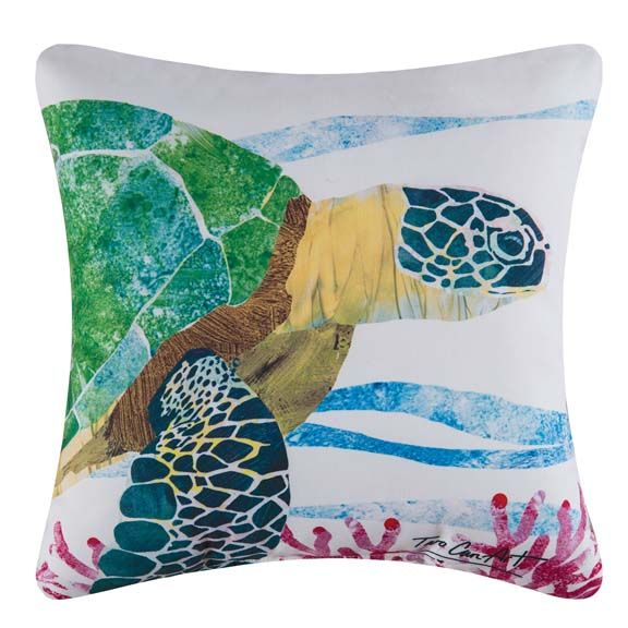 Sea Turtle Two Can Art Indoor/outdoor Pillow From C&F