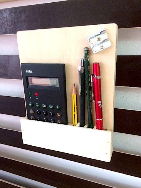 Taschenrechner und Stifte-Halter für meine French Cleat Wall. Die Anleitung daz… – Ralf