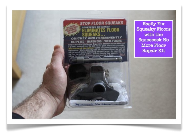 Easily fix squeaky floors with the squeeeeek no more floor for Squeaky bathroom floor