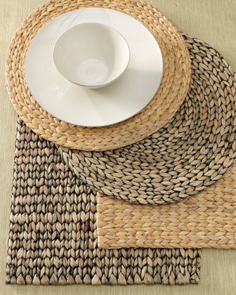 Water Hyacinth Place Mats by Dransfield & Ross at Horchow.