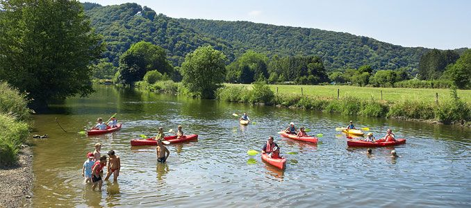 Kanoën op de rivier de Semois