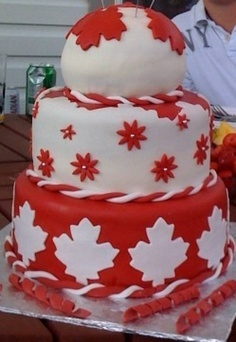 Canada Day Cake! For the extremely talented.