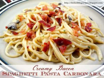 Our Creamy Bacon Spaghetti Pasta Carbonara is a sure to be hit with anyone in your family! It's a perfect dish for everyone, especially those bacon lovers.