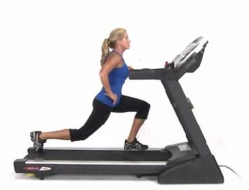 Skateboard lunges, ab wheel, walking lunges oh my! It's time to dust off the old treadmill!! #FitStudioActivities Rest, 5 Minute, Treadmills Workout, Left Side, Exercise Info, Ab Wheels, Power Walks, Skateboards Lungs, Walks Lungs