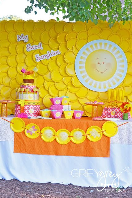 You Are My Sunshine Party #KidsParties #BabyShower