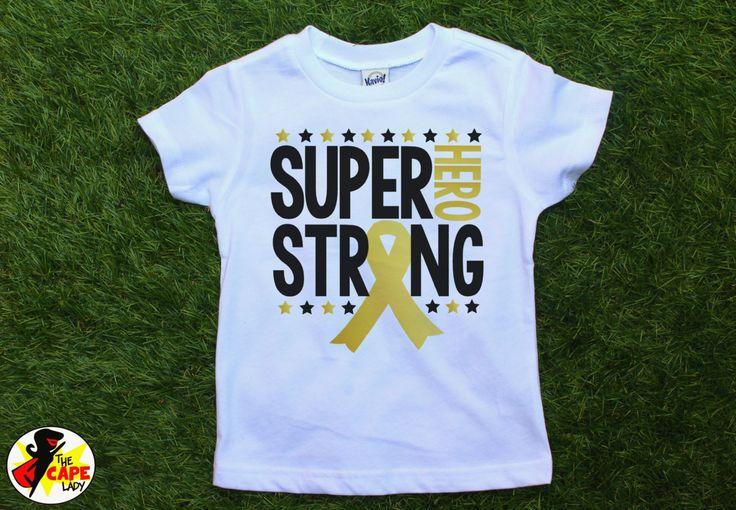 Childhood Cancer shirts, cancer awareness, go gold, pediatric cancer, Super Hero…
