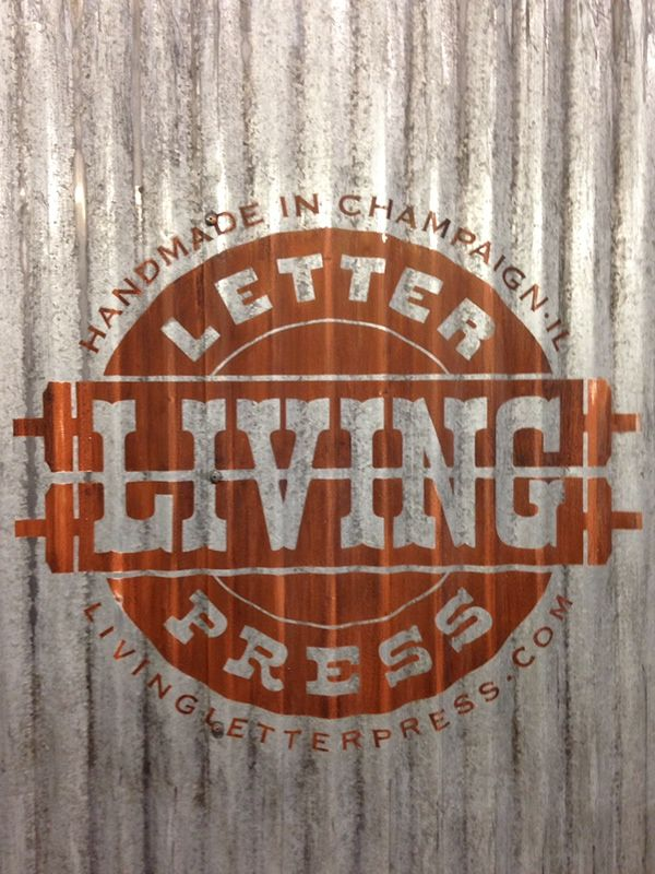 Creating A Vintage Looking Sign On Corrugated Steel Siding