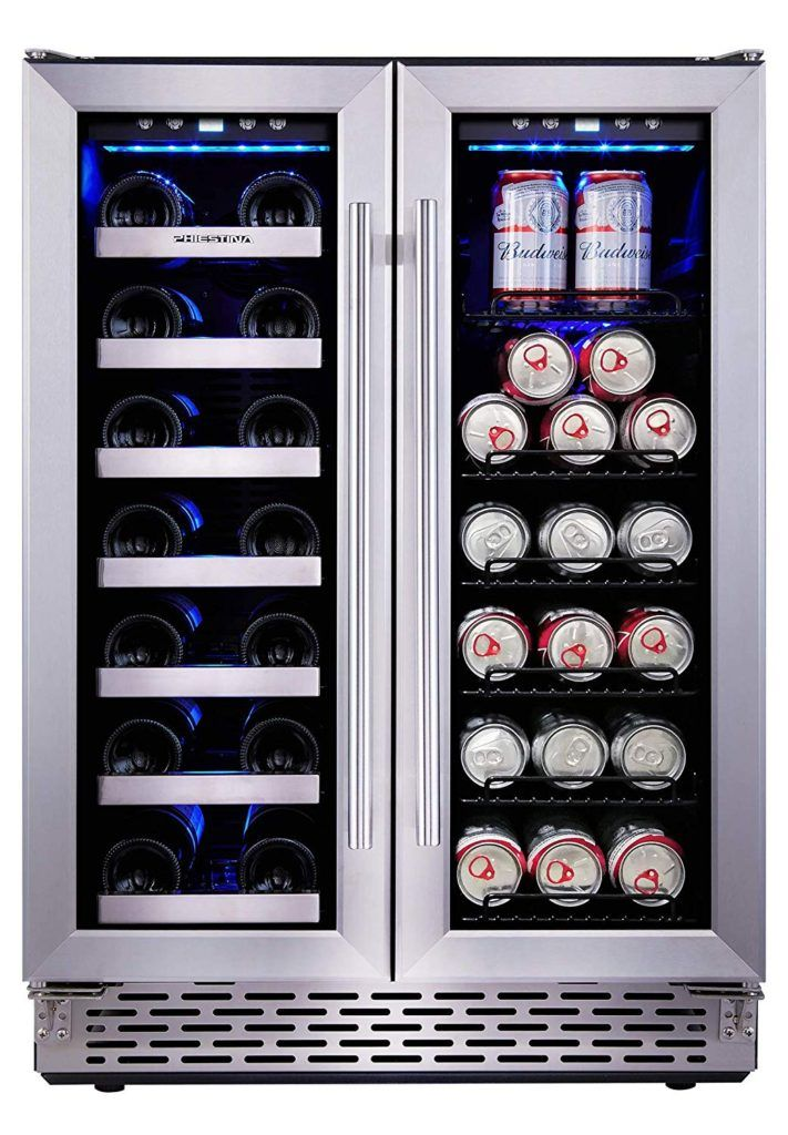 Amazing Offer On Phiestina 24 Inch Beverage Cooler Refrigerator 175 Can Built In Free Standing Beverage Fridge Glass Door Soda Beer Wine Drink Fridge Fo In 2020 Beverage Cooler Beverage Fridge Drinks Fridge
