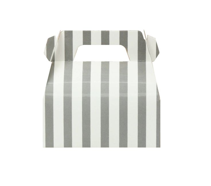 Pack of 10 Gray Stripes Gable Boxes, Gray Gable Boxes, Grey Gable Boxes, Grey Baby Shower Favor, Silver Gable Boxes, Gable Boxes Favor by MookiPartyShop on Etsy