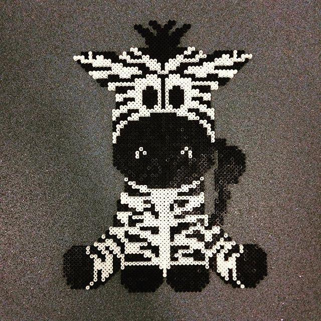 Zebra hama beads by dina_mig - Pattern: https://de.pinterest.com/pin/374291419013031044/