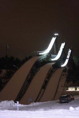 Ski jumping towers in Lahti.