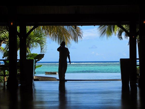 The view from the entrance foyer at LUX Le Morne in Mauritius ~ Sure Travel.  #Mauritius #LUXResorts #beach #LUXLeMorne #luxury @luxresorts