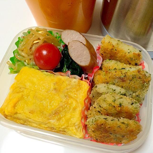 寝坊した… - 23件のもぐもぐ - 卵焼き、鱈の磯辺焼き、もやしナムル、ほうれん草、ミニトマト、ウインナー、シメジと豆腐の味噌汁。 by seabreeze