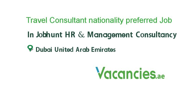 Travel Consultant Nationality Preferred Sudanese Hr Management Job Sales And Marketing