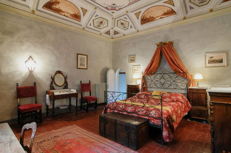 Bedrooms at Palazzo Consoli, a small hotel in Umbria, are traditional and fascinating. #charming #Gubbio #Umbria #Italy #hotel #travel #palace