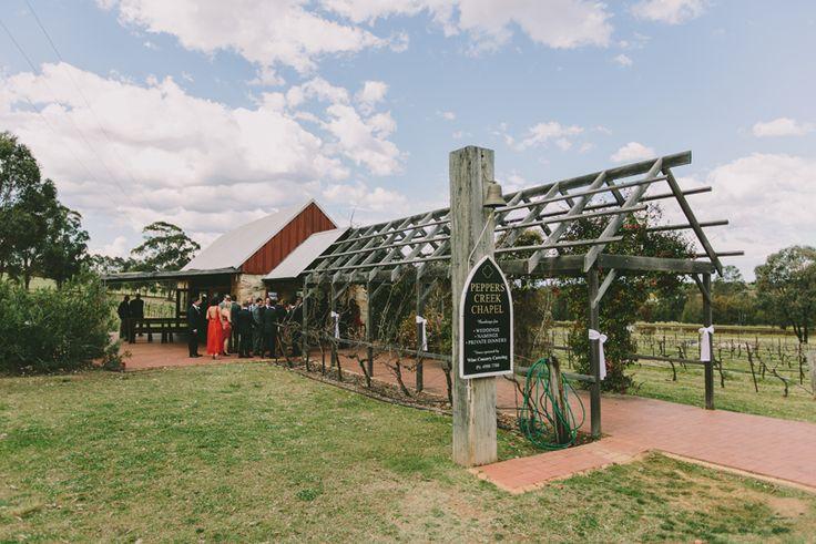Peppers Creek Chapel, Hunter Valley wedding venue. Image: Cavanagh Photography http://cavanaghphotography.com.au