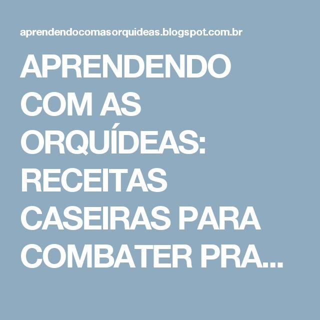 APRENDENDO COM AS ORQUÍDEAS: RECEITAS CASEIRAS PARA COMBATER PRAGAS NAS ORQUÍDEAS
