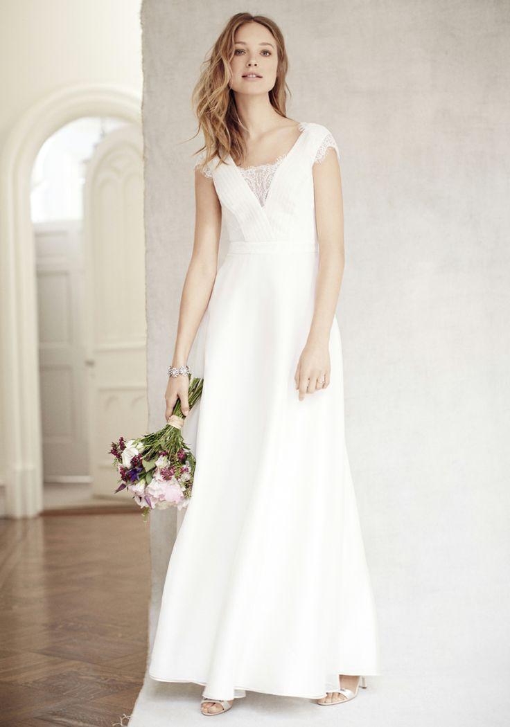 Ann Taylor Silk Dupioni Ruffle Strapless Wedding Dress Ivo Hoogveld