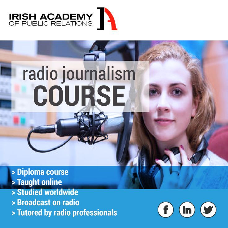 Radio Journalism Course! All the details here http://www.irishacademy.com/ie/online-courses/diploma-in-radio-journalism/diploma-in-radio-journalism