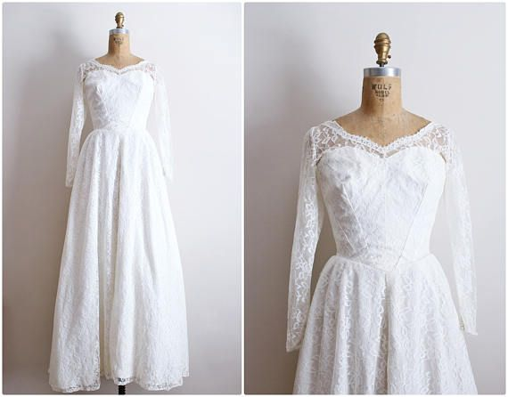"""Measurements are taken in inches with the garment laying flat. Measurements are then doubled where appropriate.  Label: N/A Fits like: XS/ Small Size on tag: N/A Shoulder to Shoulder: 14.5 Bust : 15.5 Waist : 12.5"""" Sleeve Length: 22.5 Hips: Free Length: 59  Very Good condition. Couple of tears on lace.  Please contact me with any questions!  **Remember that this item is vintage. This means they are not new, unless stated otherwise. A certain amount of wear & age should be e..."""