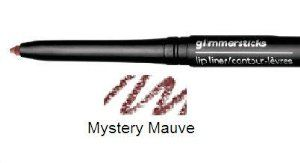 Avon Glimmersticks Lip Liner Mystery Mauve (C) by Avon. Save 71 Off!. $1.75. Draw the line on color that disappears. Feather in. Ingredients:  WATER/EAU  GLYCERIN  CETEARYL ALCOHOL  ISOPROPYL PALMITATE  ELAEIS GUINEENSIS (PALM) OIL  CETEARETH-20  SESAMUM INDICUM (SESAME) SEED OIL  BUTYROSPERMUM PARKII (SHEA BUTTER) EXTRACT  PRUNUS AMYGDALUS DULCIS (SWEET ALMOND) SEED EXTRACT  TOCOPHERYL ACETATE  RETINYL PALMITATE  TRIMETHYLOLPROPANE TRIETHYLHEXANOATE  SIMMONDSIA CHINENSIS (JOJOBA) SEED OIL…