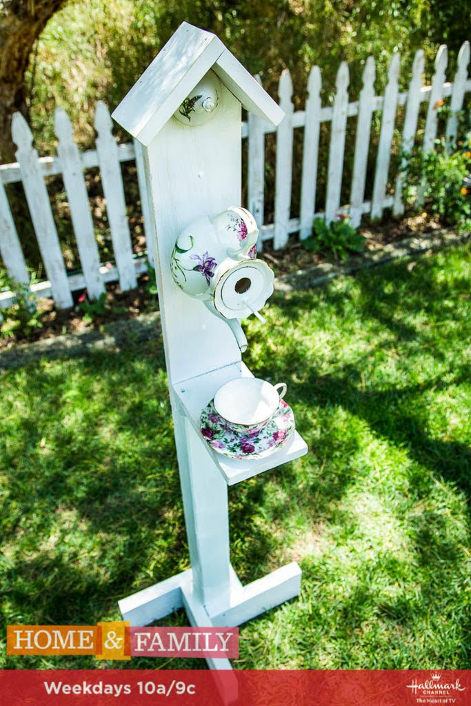 Take care of your birds with this gorgeous DIY Teapot Bird Feeder! For more DIYS, tune in weekdays at 10a/9c on Hallmark Channel!