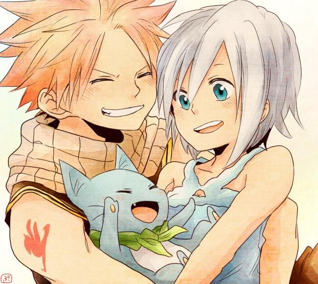 17 best images about natsu x lisanna on pinterest what 39 s - Fairy tail happy and natsu ...