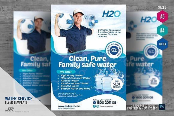 Water Delivery Services Flyer Water Delivery Service Water Delivery Flyer