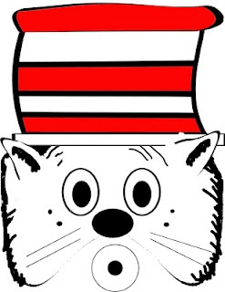 DR SEUSS Cat in the Hat mask. Just print and cut. Directions at www ...
