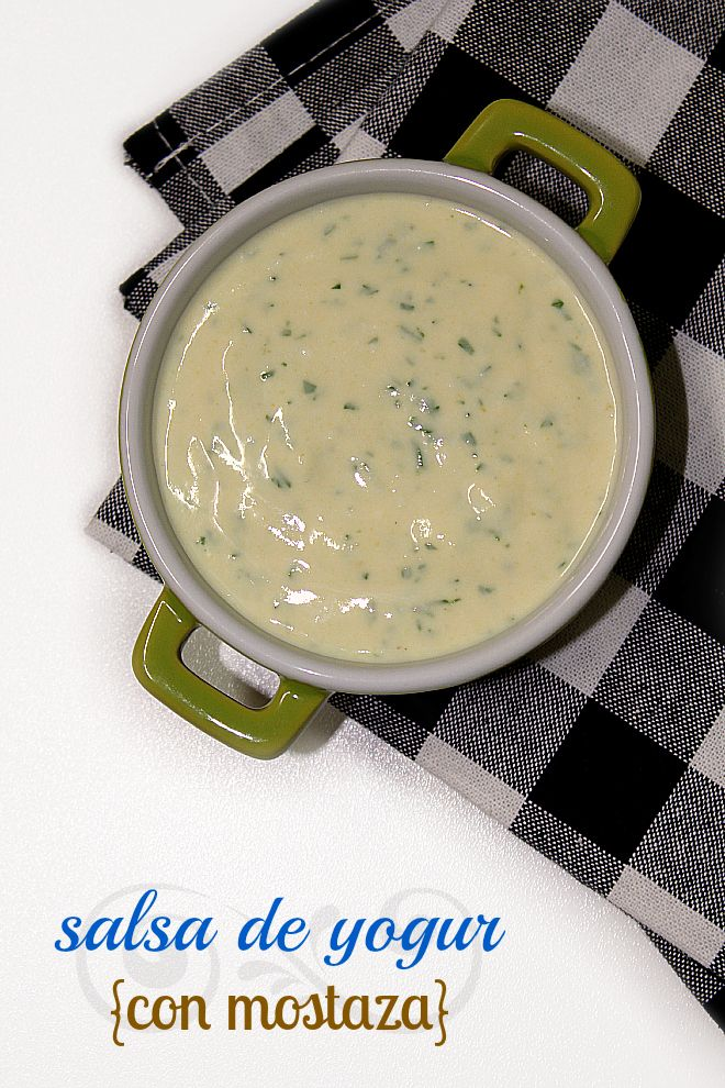 LAS SALSAS DE LA VIDA: Salsa de yogur {con mostaza}
