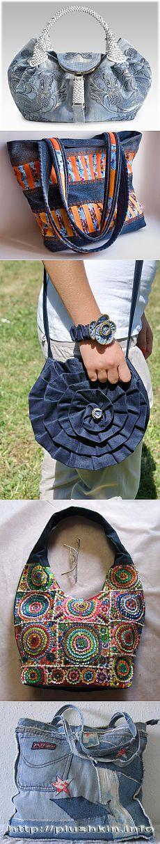 Сумки из джинсы - Кройка и шитье, вязание