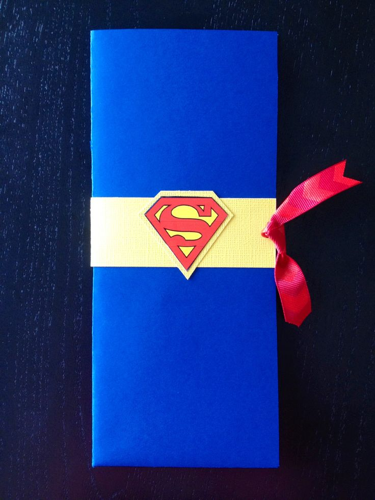 Superman invitation.