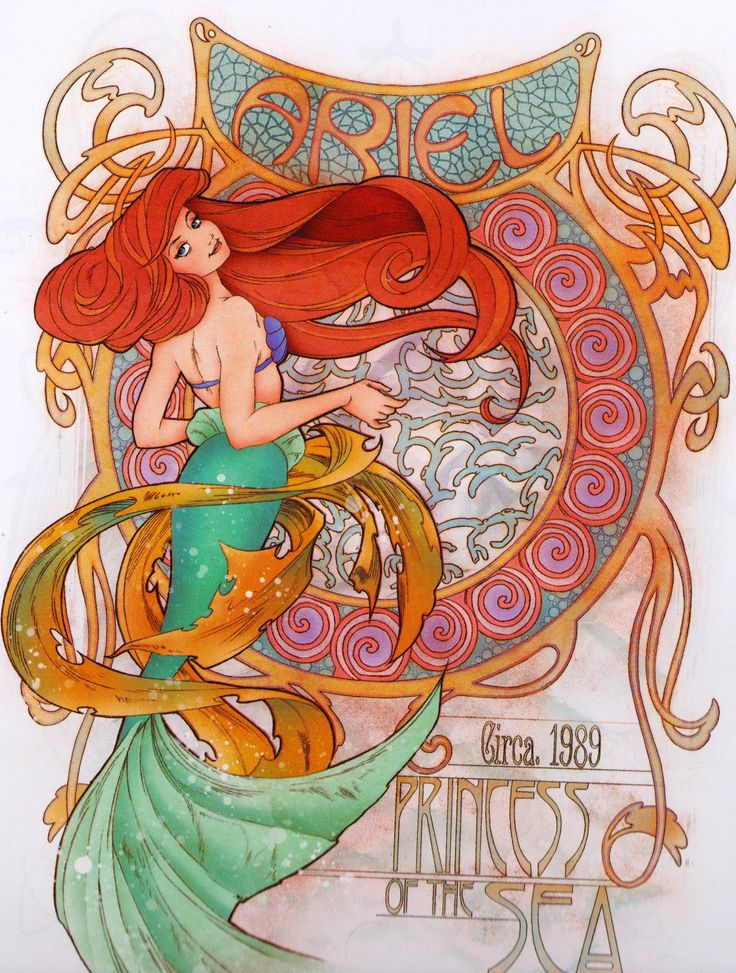 Art Nouveau Ariel from Art of the Disney Princess