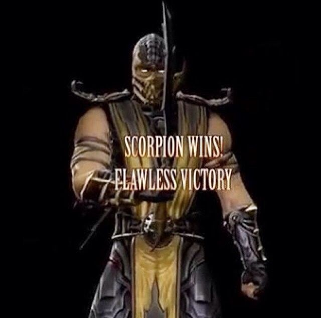 Mortal Kombat 9 best game ever gold outfit hero song music scorpion ninja master sword.
