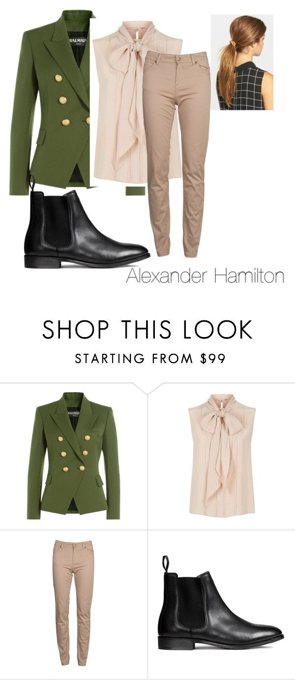 """Alexander Hamilton outfit"" by officialhamitlon on Polyvore featuring Balmain, MaxMara, Barbour and Ficcare"