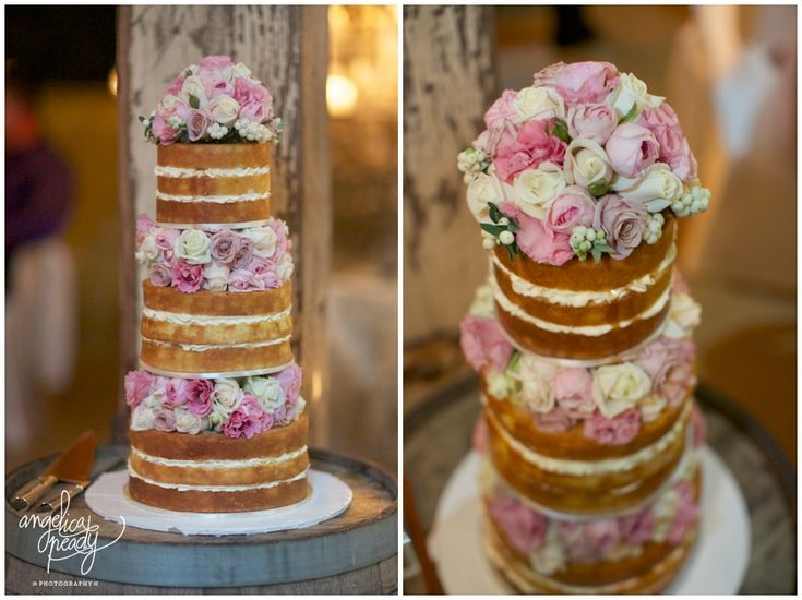 Gorgeous Wedding Cake With Flowers In Between Tiers I Love It Because