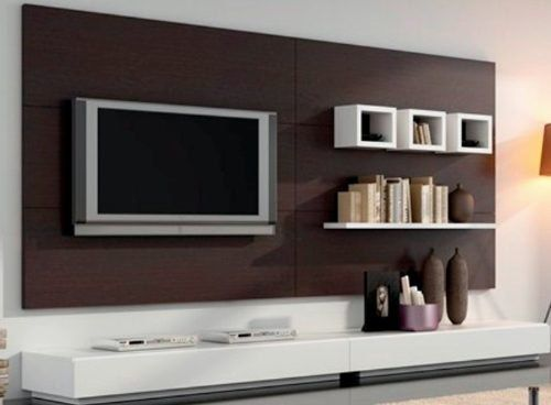 17 migliori idee su parete tv moderna su pinterest for Muebles modernos para living