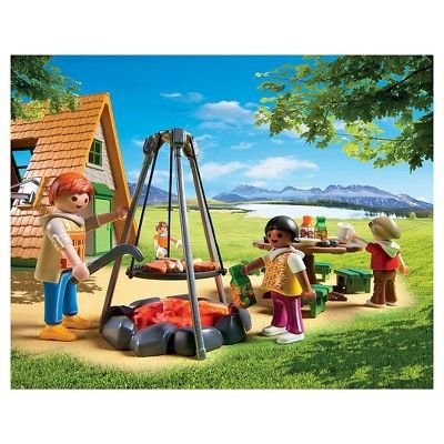 Playmobil Camping Lodge Playset, Bright Multi Color