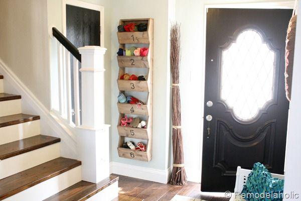 Wall Bins: The Doors, Rose Headband, Closet Doors, Wall Storage, Front Doors, Diy Rustic, Storage Bins, Storage Ideas, Diy Storage