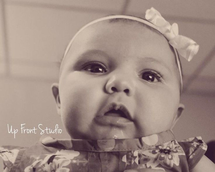 Fan favorite for Lily's 3 Month Session!   © 2012 Up Front Studio