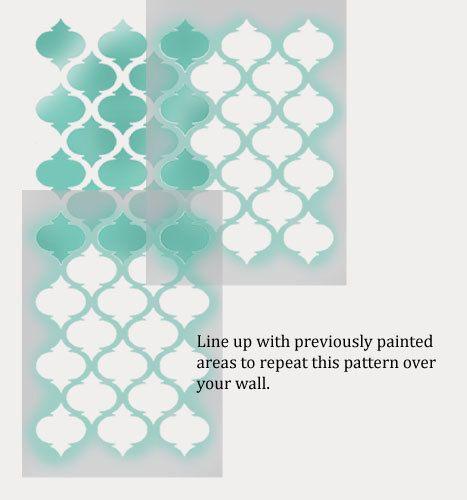 les 25 meilleures id es de la cat gorie pochoir marocain sur pinterest motif marocain. Black Bedroom Furniture Sets. Home Design Ideas