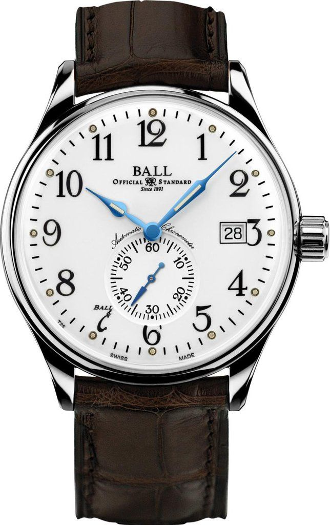 Ball Watch Company Trainmaster Standard Time #basel-16 #bezel-fixed #bracelet-strap-crocodile #brand-ball-watch-company #case-depth-11-5mm #case-material-steel #case-width-39-5mm #cosc-yes #date-yes #delivery-timescale-1-2-weeks #description-done #dial-colour-white #gender-mens #luxury #movement-automatic #new-product-yes #official-stockist-for-ball-watch-company-watches #packaging-ball-watch-company-watch-packaging #style-dress #subcat-trainmaster #supplier-model-no-nm3888d-ll1cj-wh…
