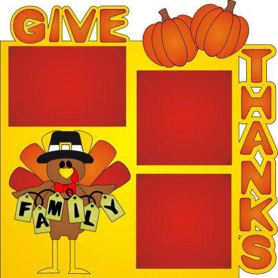Thanksgiving scrapbook layouts | Thanksgiving Scrapbook Layout | Krista's Paper Cafe