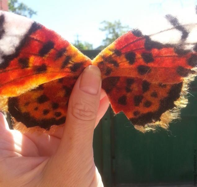 """Создаем крылья бабочки методом """"шерстяной пирог"""" - Ярмарка Мастеров - ручная работа, handmade"""