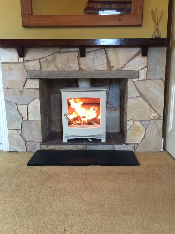 This DG Ivar wood burning stove was recently fitted by the Hagley Stoves team for a local customer. The stove was painted in Almond colour by our staff too. Great !!