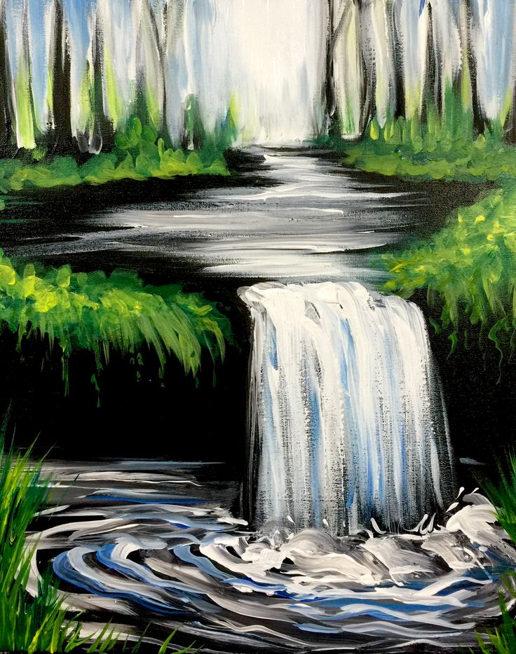 Hey! Check out The Hidden Waterfall at The Greene Turtle (Columbia) - Paint Nite Event