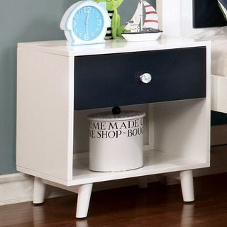 Shop for Furniture of America Kacie Modern Blue/White Youth Nightstand. Get free delivery at Overstock.com - Your Online Furniture Store! Get 5% in rewards with Club O!